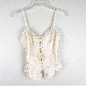Vintage Victoria's Secret Gold Label Lace Cami Top